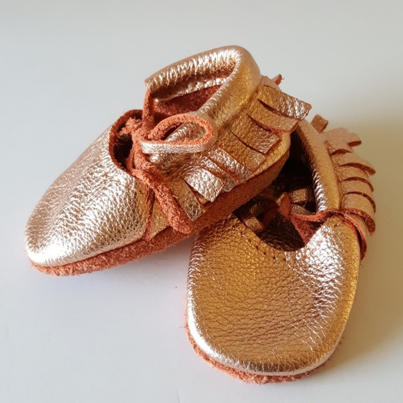61fe4454b8721 Baby Moccasins Rose Gold 0 - 6 Months